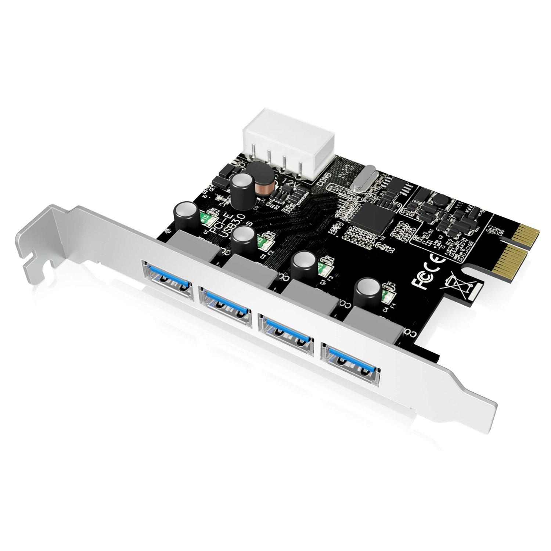 Carte contrôleur ICY BOX IB-AC614a Carte PCI Express avec 4 ports USB 3.0