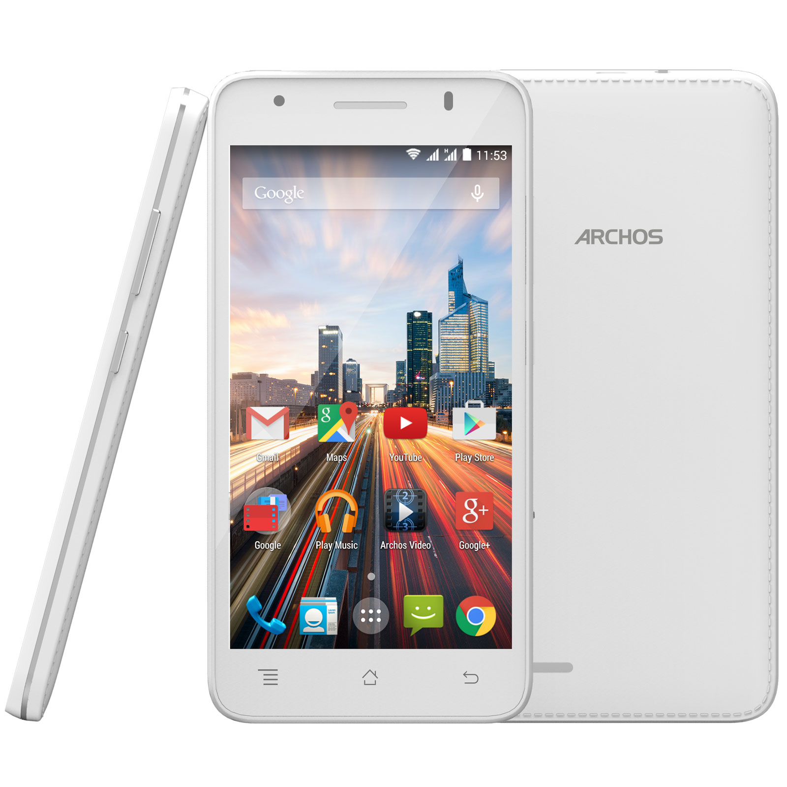 archos 50c helium 4g blanc mobile smartphone archos. Black Bedroom Furniture Sets. Home Design Ideas