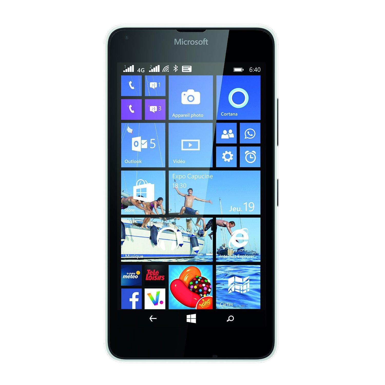 Microsoft lumia 640 dual sim blanc mobile smartphone for Photo ecran lumia 640