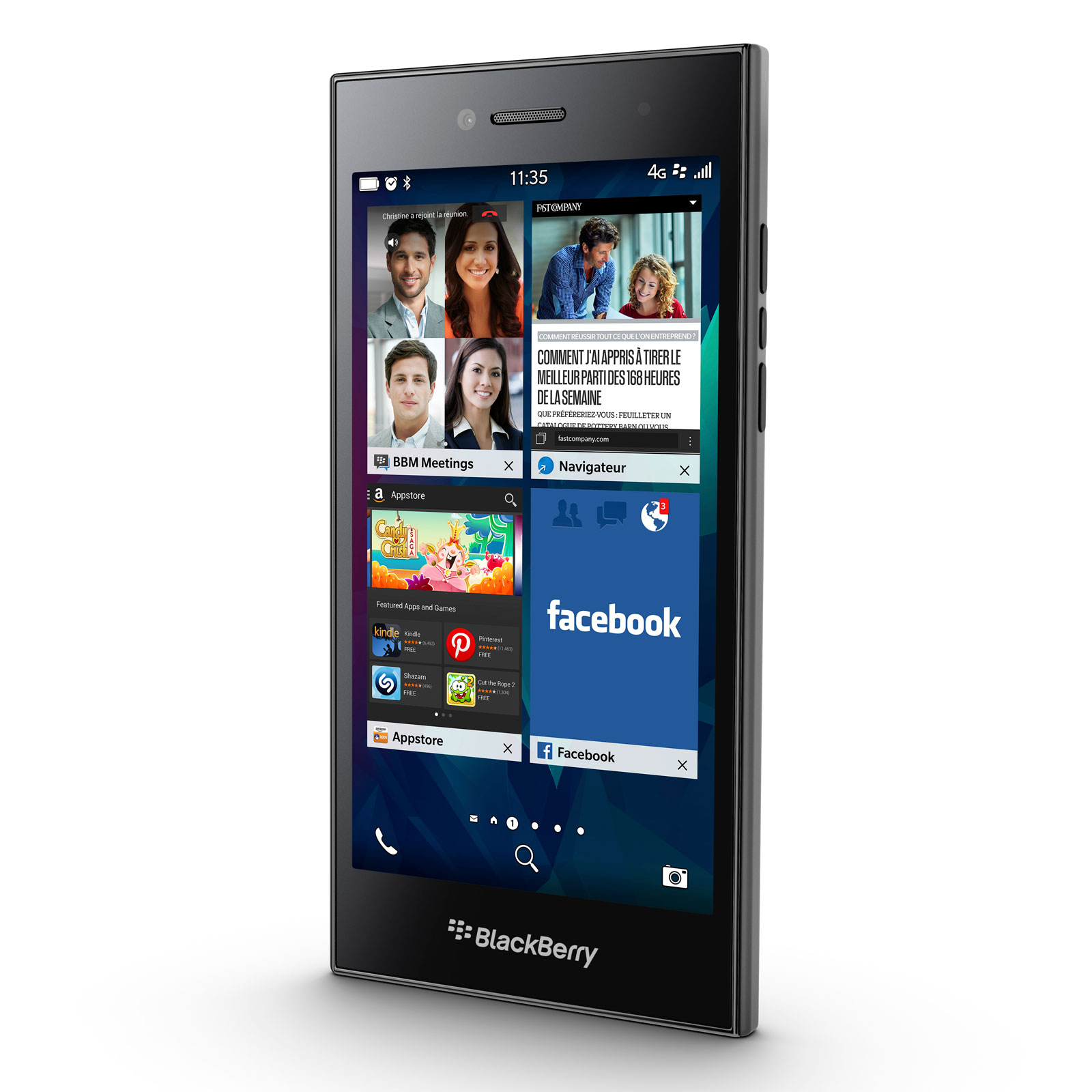 Blackberry leap noir mobile smartphone blackberry sur for Photo ecran blackberry