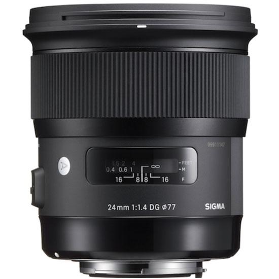 Objectif appareil photo SIGMA 24mm F1.4 DG HSM monture Canon Zoom standard expert