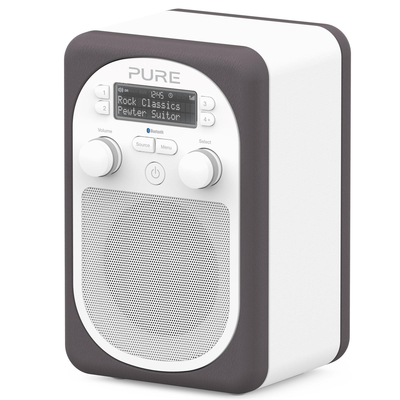 Pure evoke d2 mio bluetooth pewter radio radio r veil for Radio numerique portable