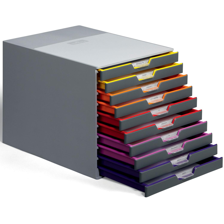 durable module de classement varicolor 10 tiroirs 7610 27 module de classement durable sur. Black Bedroom Furniture Sets. Home Design Ideas