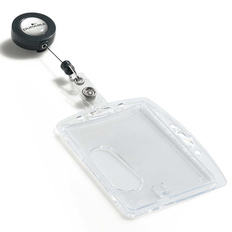DURABLE Boîte De Portebadges De Sécurité Avec Enrouleur Pour - Porte badge rigide
