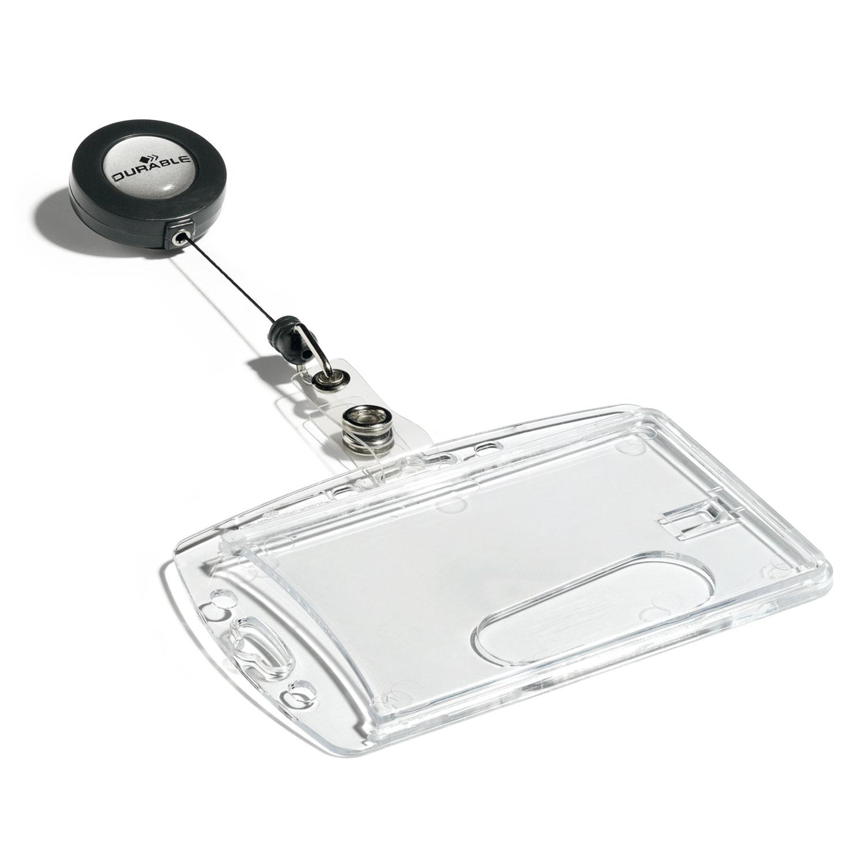 DURABLE Boîte De Portebadges De Sécurité Avec Enrouleur Pour - Porte badge pas cher