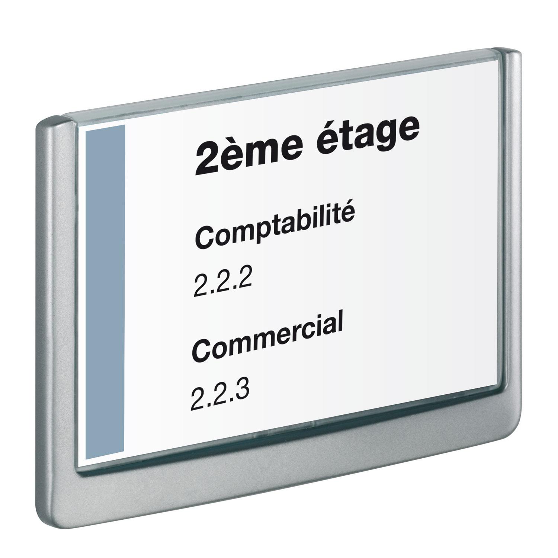 DURABLE Plaque De Porte Click Sign Format A Paysage Coloris - Plaque de porte