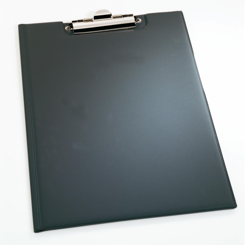 durable porte bloc a4 avec rabat standard coloris noir. Black Bedroom Furniture Sets. Home Design Ideas