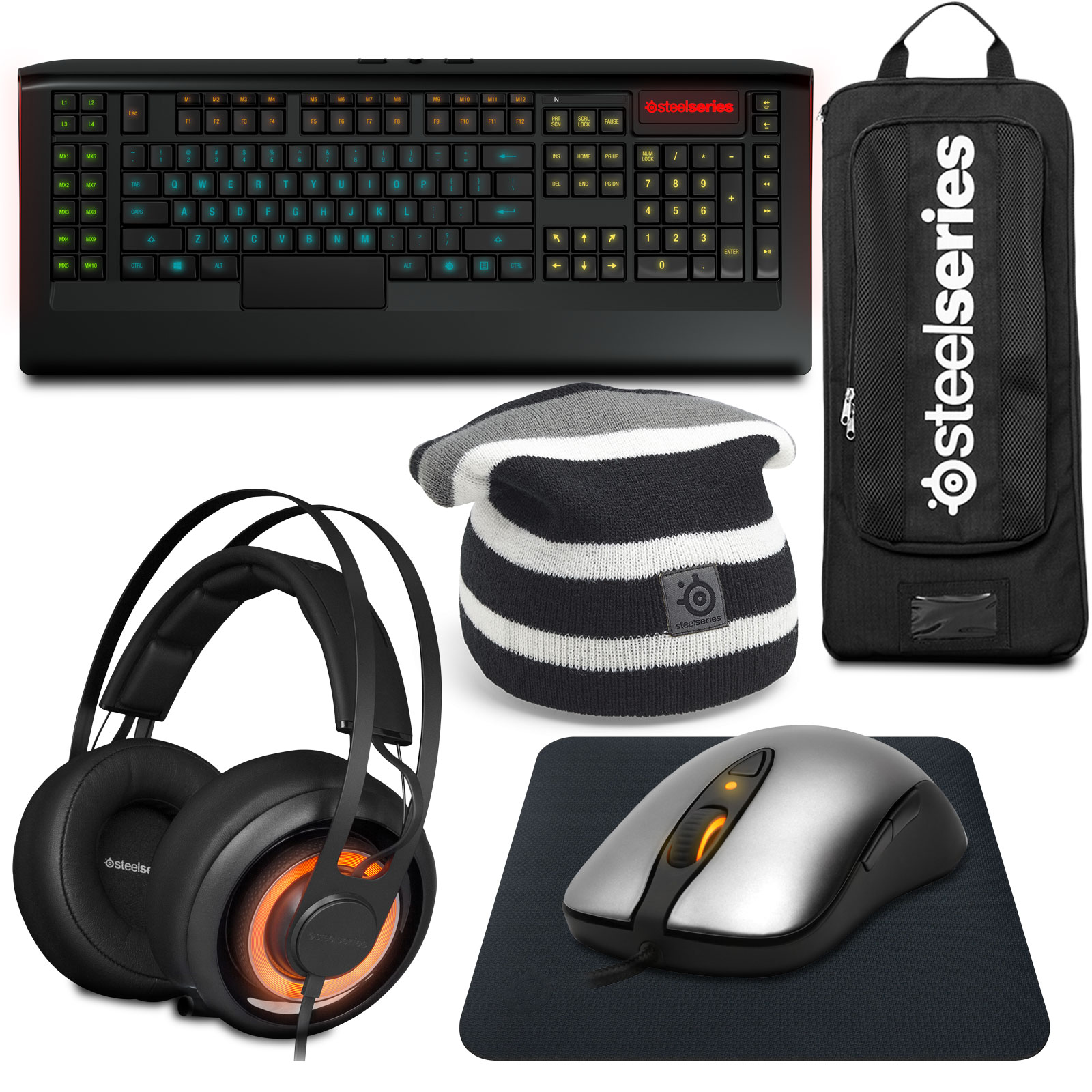 steelseries gaming pack gold edition pack clavier souris steelseries sur. Black Bedroom Furniture Sets. Home Design Ideas