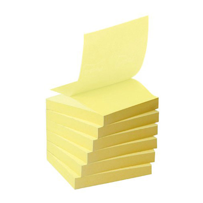 post it bloc z notes 100 feuillets 76 x 76 mm jaune bloc. Black Bedroom Furniture Sets. Home Design Ideas