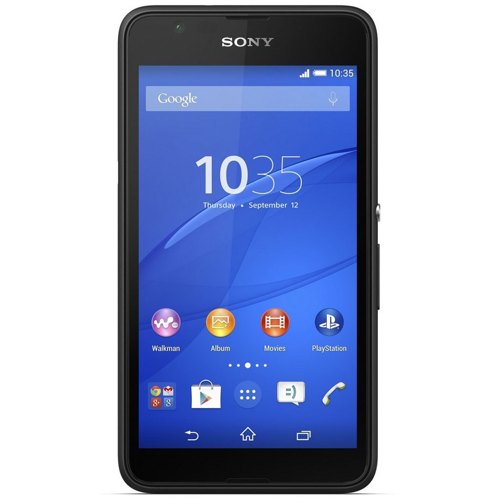 sony xperia e4g dual noir mobile smartphone sony sur. Black Bedroom Furniture Sets. Home Design Ideas