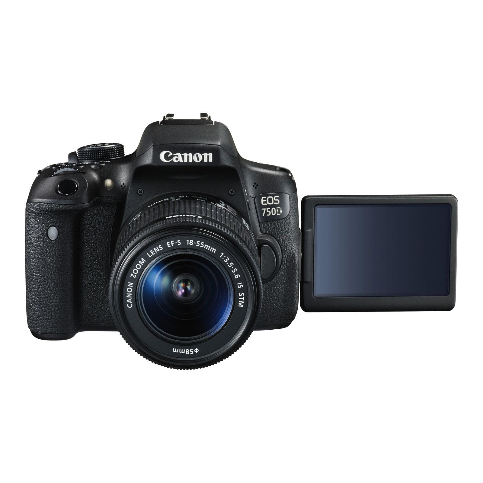 Canon eos 750d ef s 18 55mm f 3 5 5 6 is stm appareil for Ecran appareil photo canon