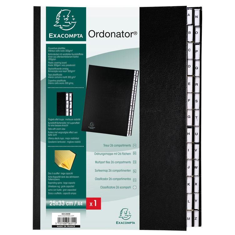 Exacompta Ordonator Trieur Alphab 233 Tique 26 Touches Noir