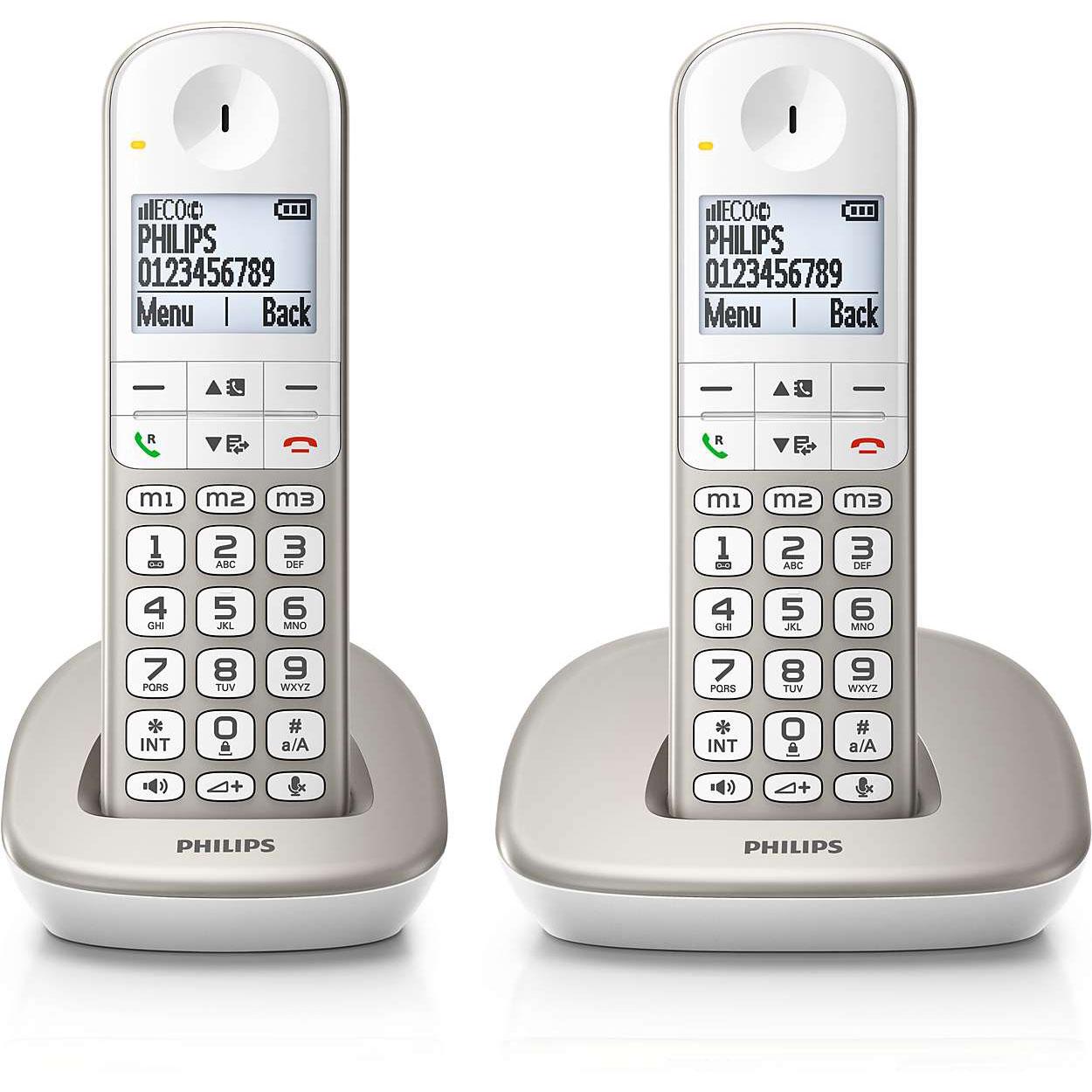 Téléphone sans fil Philips XL4902S Téléphone (2 combinés) DECT sans fil (version française)