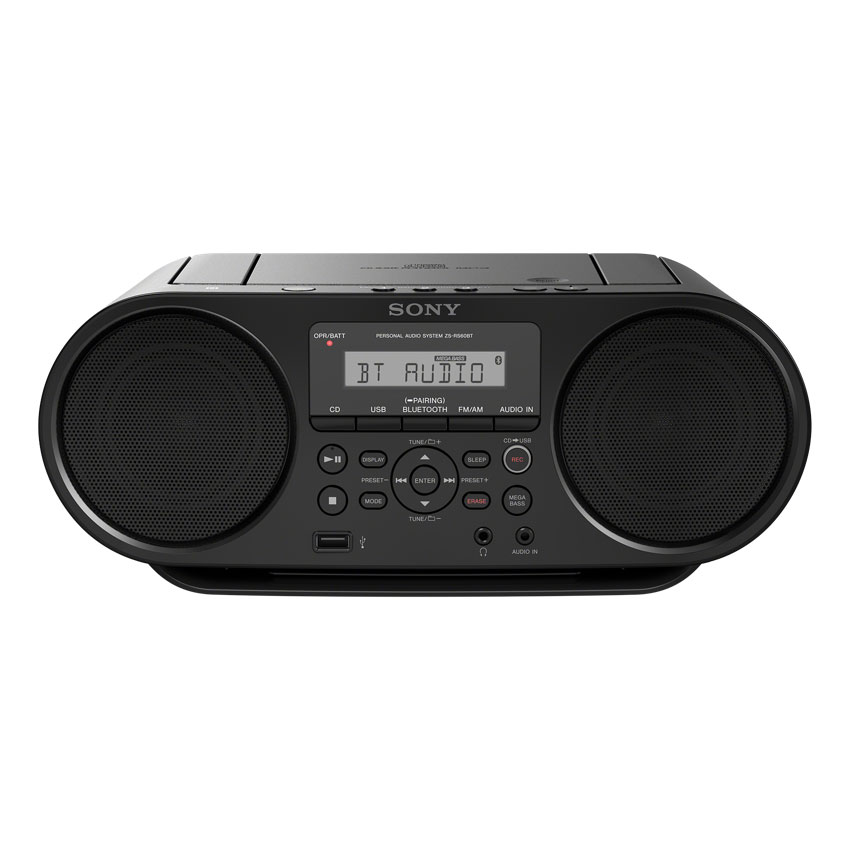 sony zs rs60bt noir radio radio r veil sony sur. Black Bedroom Furniture Sets. Home Design Ideas