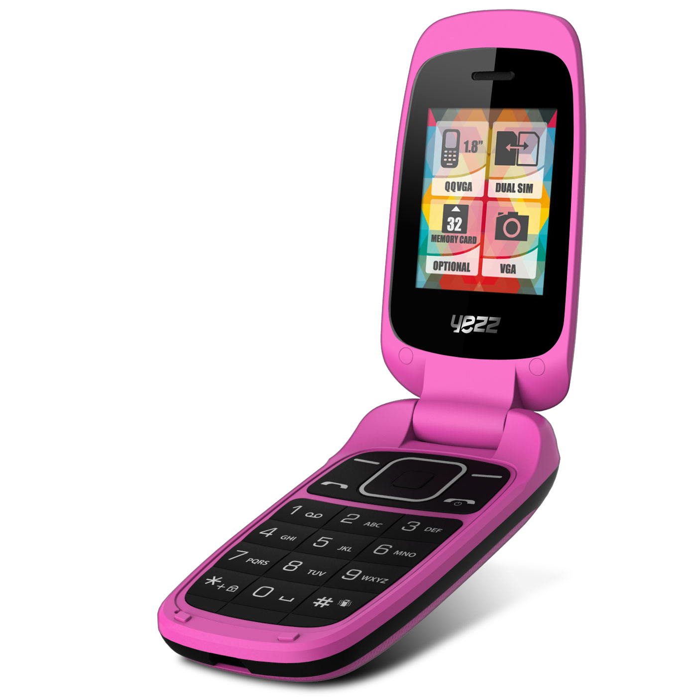 yezz classic c50 dual sim rose mobile smartphone yezz. Black Bedroom Furniture Sets. Home Design Ideas