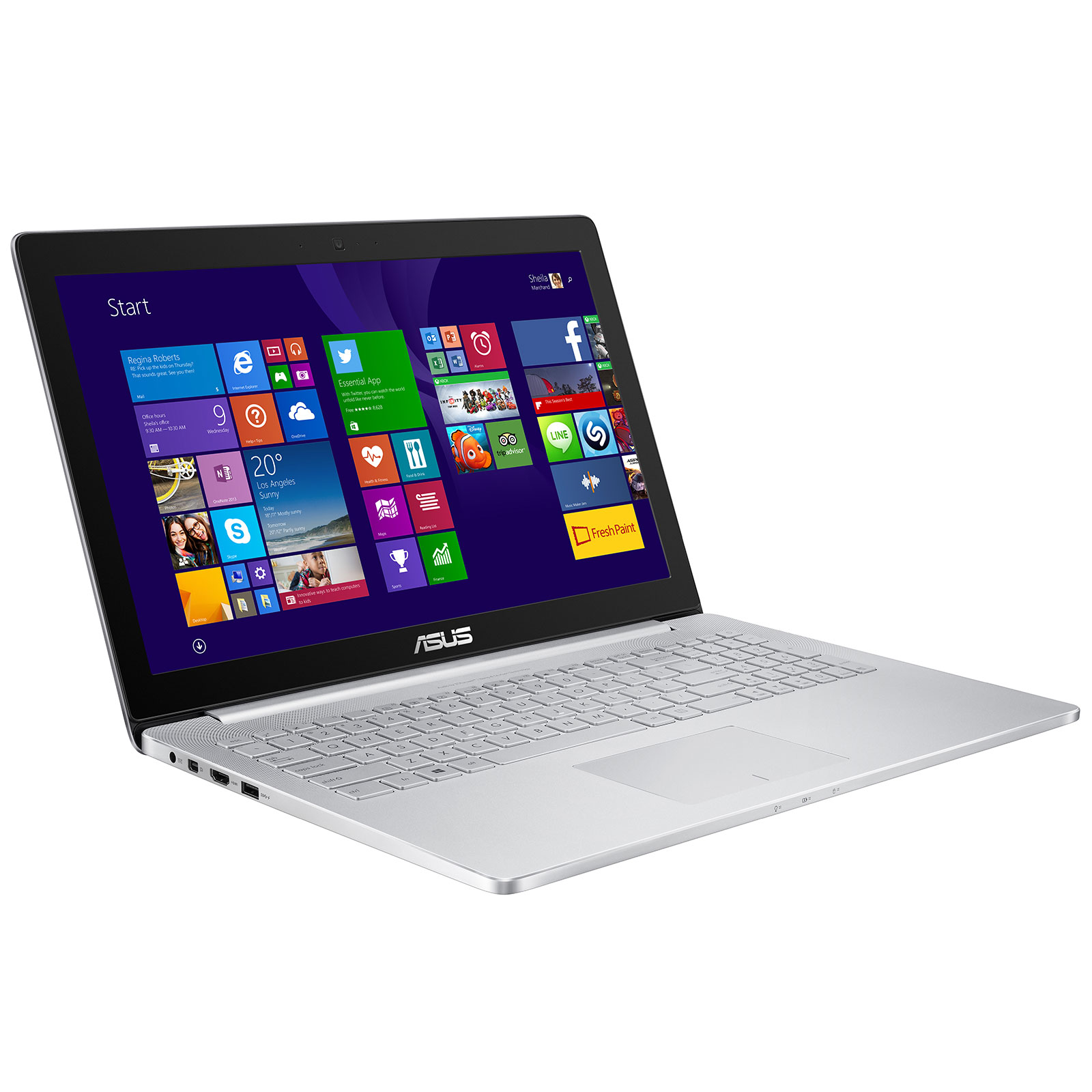 asus zenbook pro ux501jw fi486t pc portable asus sur. Black Bedroom Furniture Sets. Home Design Ideas