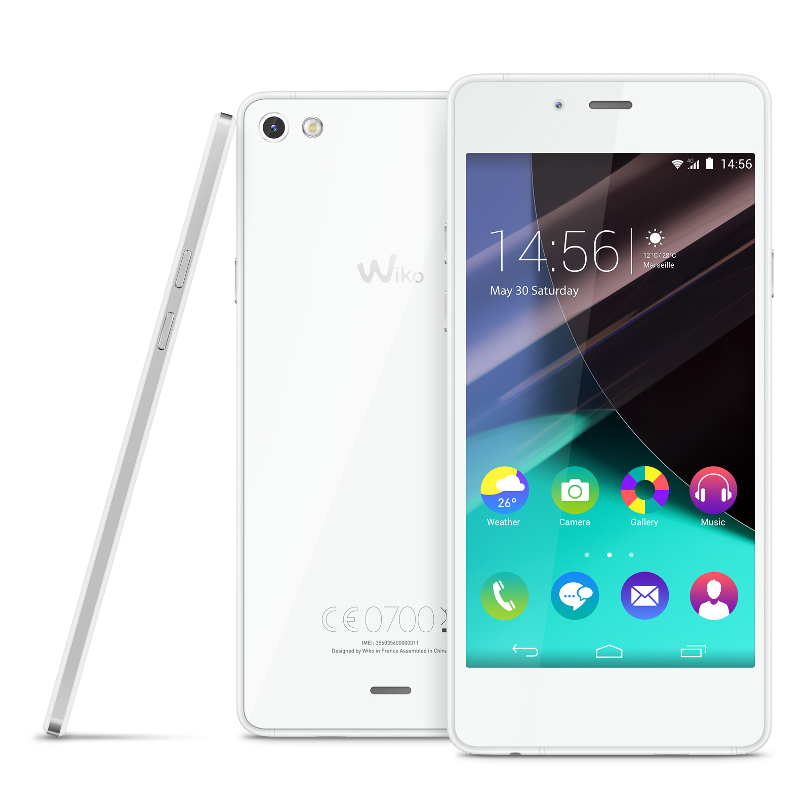 Wiko Highway Pure 4G Blanc Argent