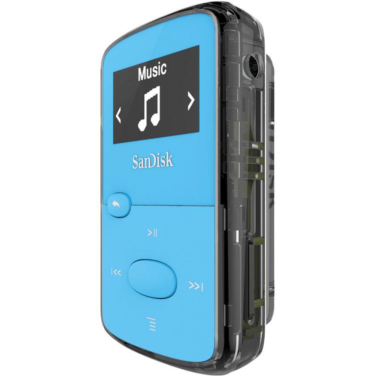 SanDisk Clip Jam Bleu 8 Go Lecteur MP3 - Ecran OLED 0.96