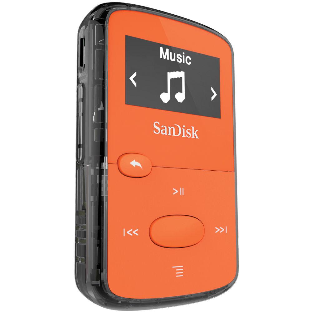 SanDisk Clip Jam Orange 8 Go Lecteur MP3 - Ecran OLED 0.96