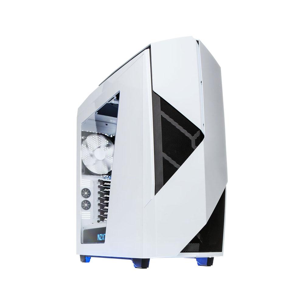 Boîtier PC NZXT Noctis 450 (blanc) Boîtier Moyen Tour pour gamer avec fenêtre