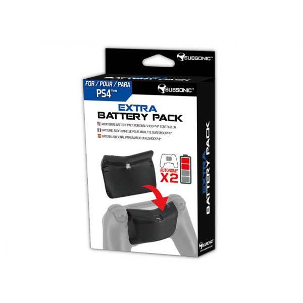 subsonic extra battery pack ps4 accessoires ps4. Black Bedroom Furniture Sets. Home Design Ideas
