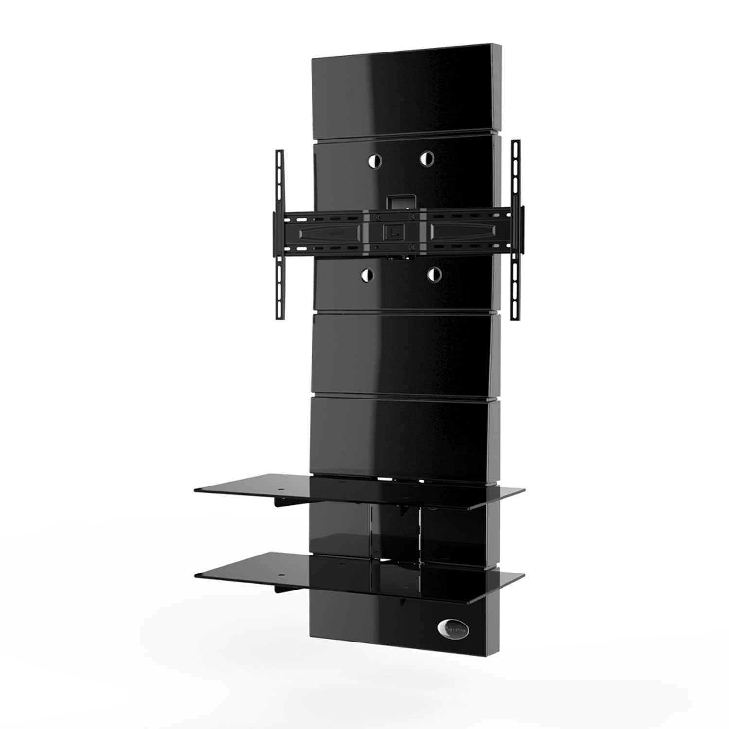 meliconi ghost design 3000 noir meuble tv meliconi sur. Black Bedroom Furniture Sets. Home Design Ideas
