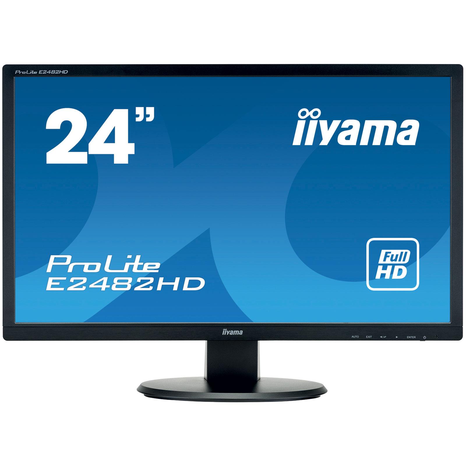 iiyama 24 led prolite e2482hd b1 ecran pc iiyama sur. Black Bedroom Furniture Sets. Home Design Ideas
