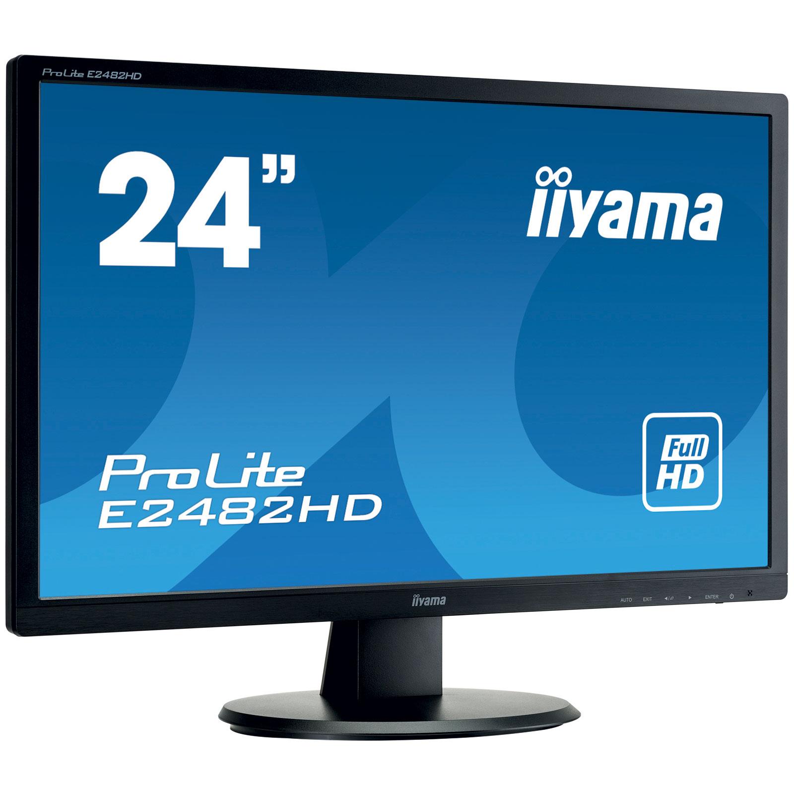 Iiyama 24 led prolite e2482hd b1 ecran pc iiyama sur for Ecran pc 24 ou 27 pouces