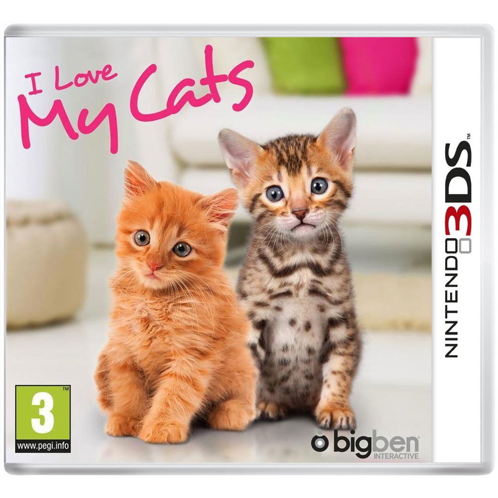 i love my cats nintendo 3ds 2ds jeux nintendo 3ds bigben interactive sur. Black Bedroom Furniture Sets. Home Design Ideas