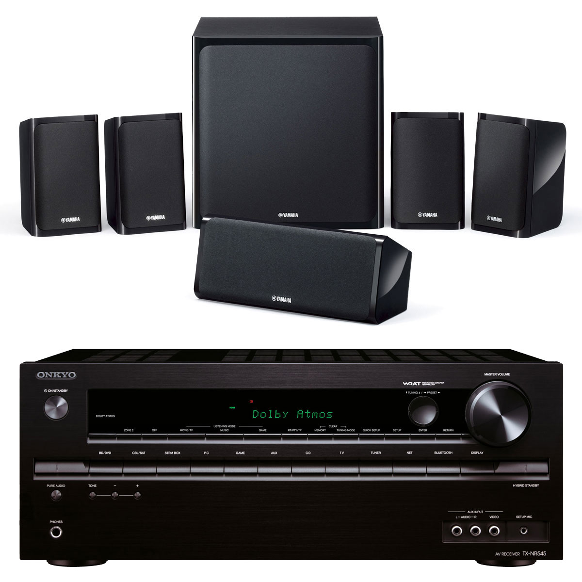 onkyo tx nr545 noir yamaha ns p40 ensemble home cin ma onkyo sur. Black Bedroom Furniture Sets. Home Design Ideas