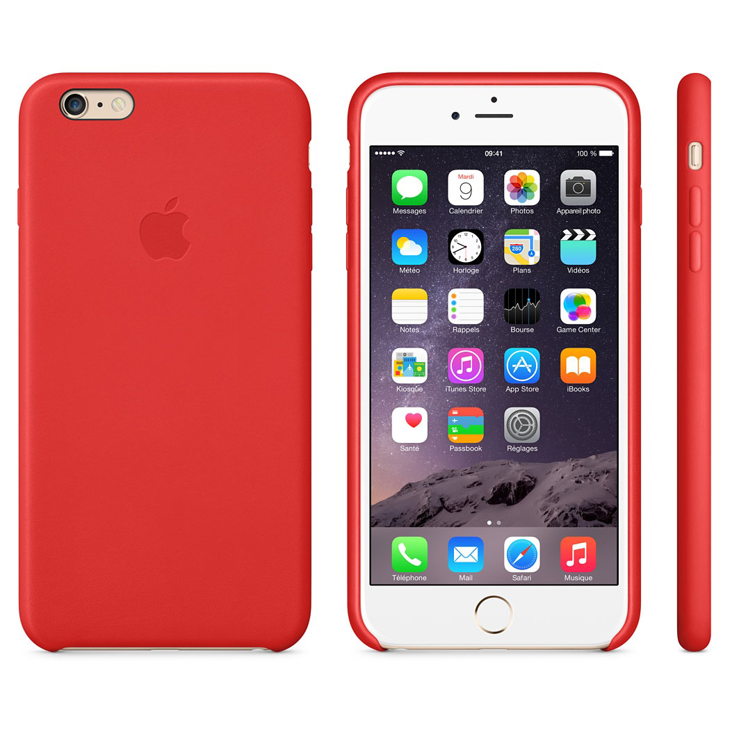 coque iphone 8 plus apple rouge