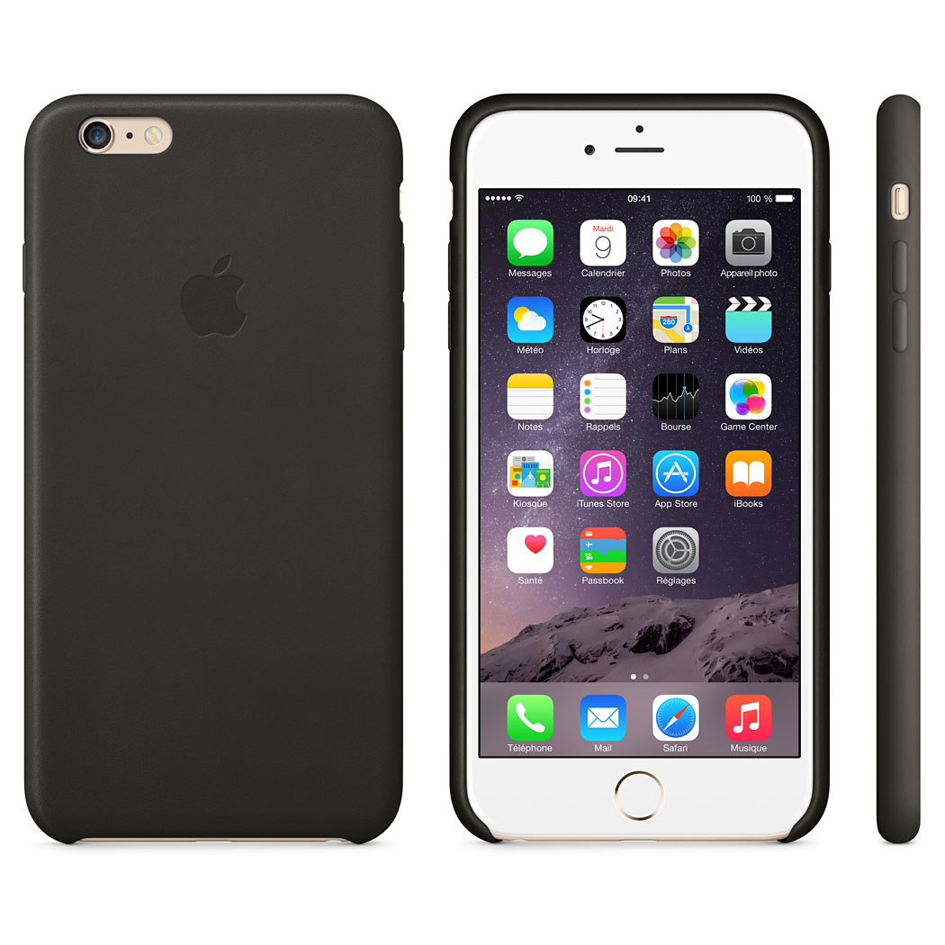 Coque Apple Case Cuir Pour Iphone  And S Noire