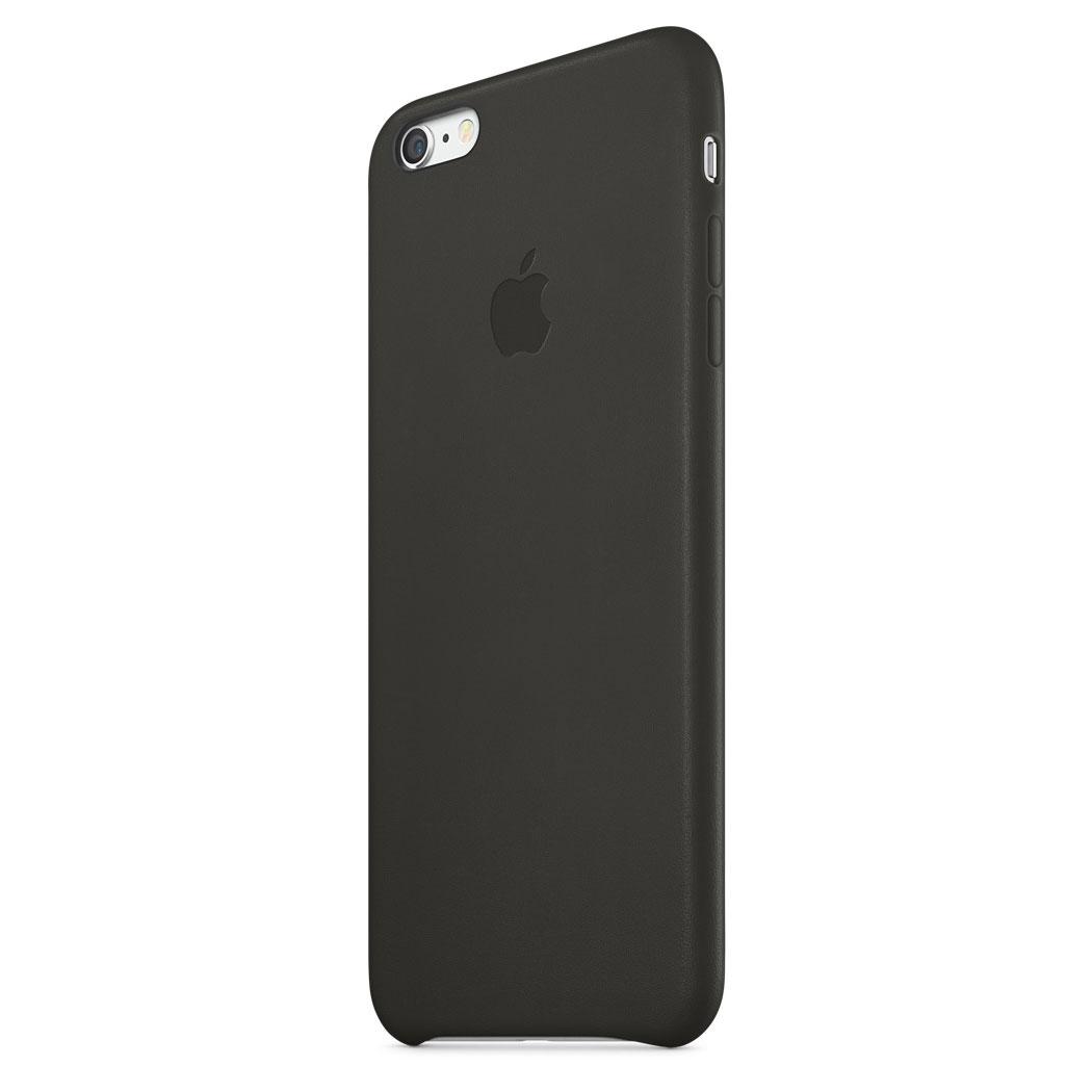 coque iphone 6 plus en cuir noir