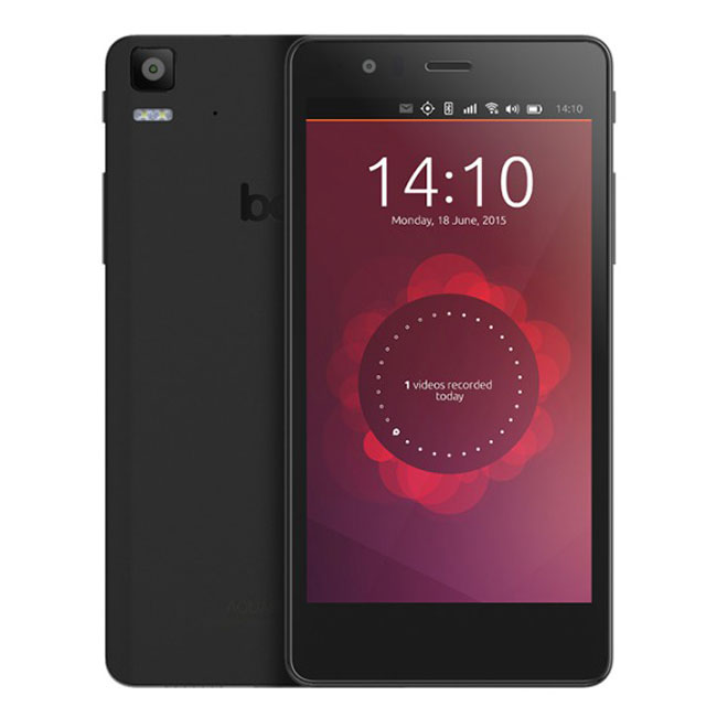 "Mobile & smartphone BQ Aquaris E5 Ubuntu Edition Noir Smartphone 3G+ Dual SIM avec écran tactile HD 5"" sous Ubuntu"