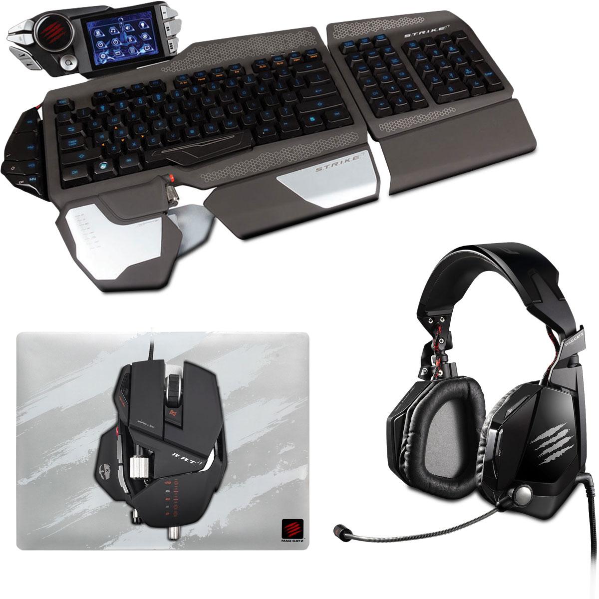 Mad catz s t r i k e kit 7 pack clavier souris mad catz sur - Grand tapis de souris gamer ...