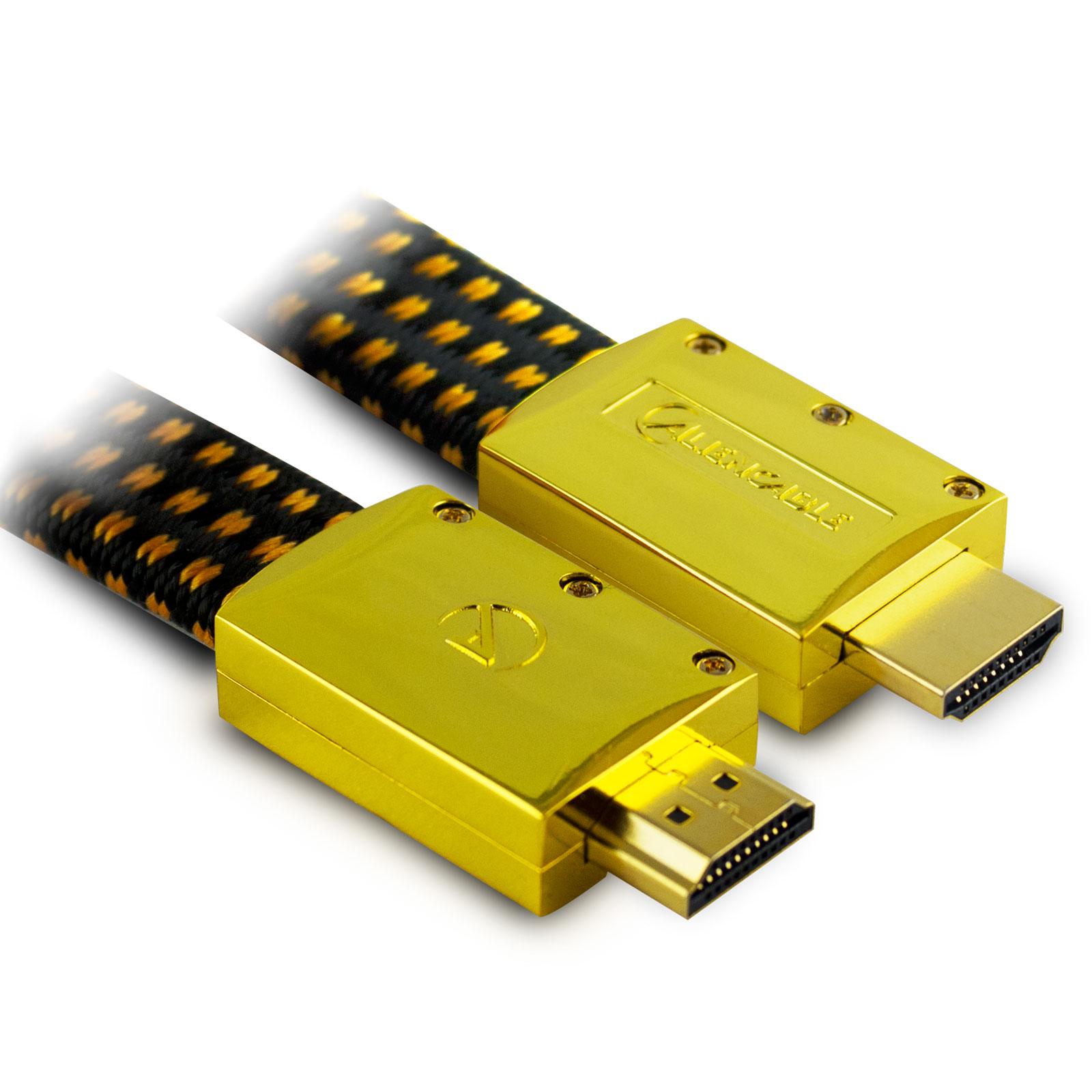HDMI Aliencable ExtremeSeries (1 m) Câble HDMI 2.0 à hautes performance compatible 3D, Full HD (1080p) et UltraHD 4K (2160p)