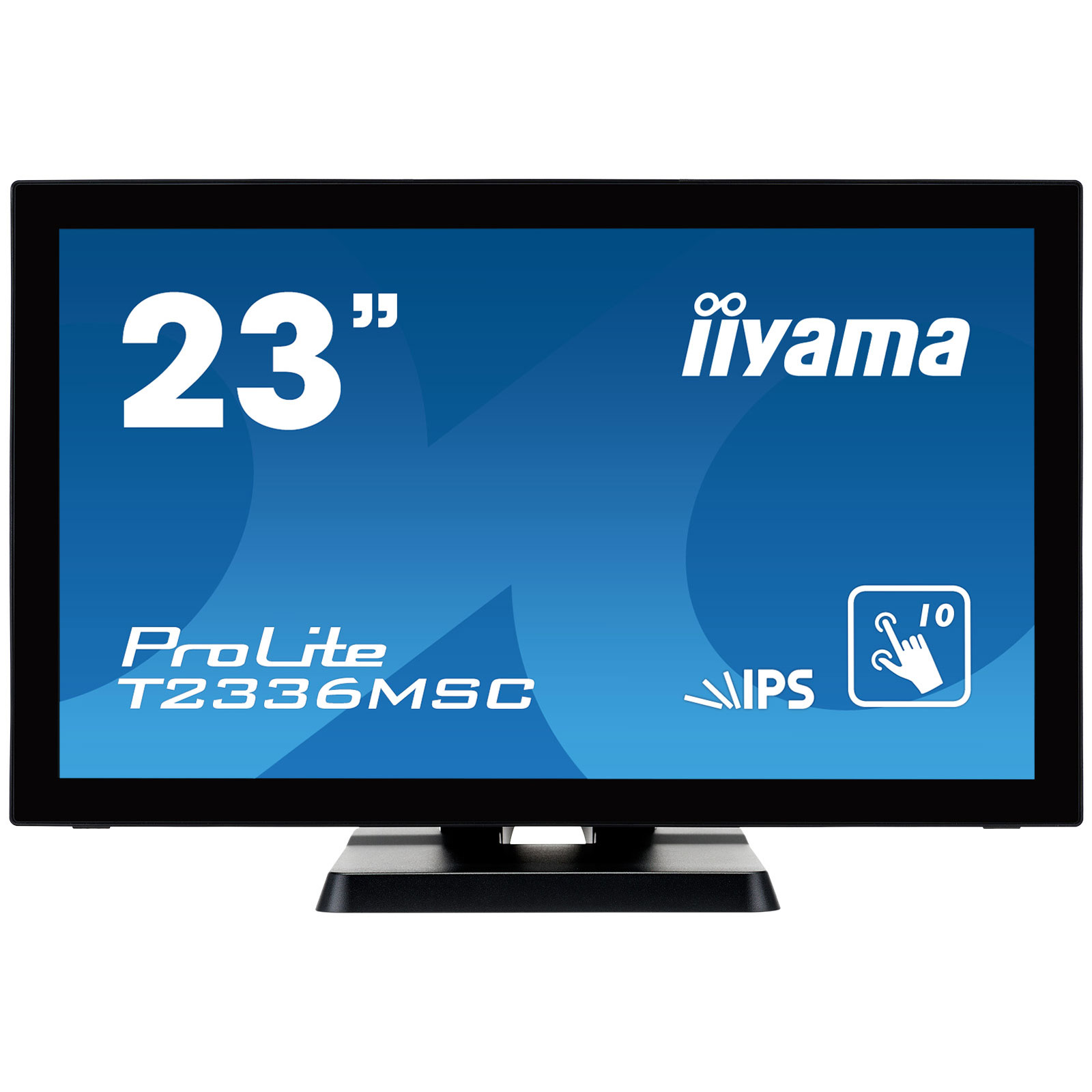 "Ecran PC iiyama 23"" LED Tactile - ProLite T2336MSC-B2 1920 x 1080 pixels - Tactile MultiTouch 10 points tactiles - IPS - 5 ms - Format large 16/9 - HDMI - Noir"
