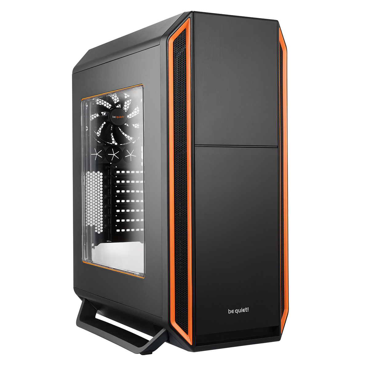 be quiet silent base 800 window noir orange bo tier pc be quiet sur. Black Bedroom Furniture Sets. Home Design Ideas