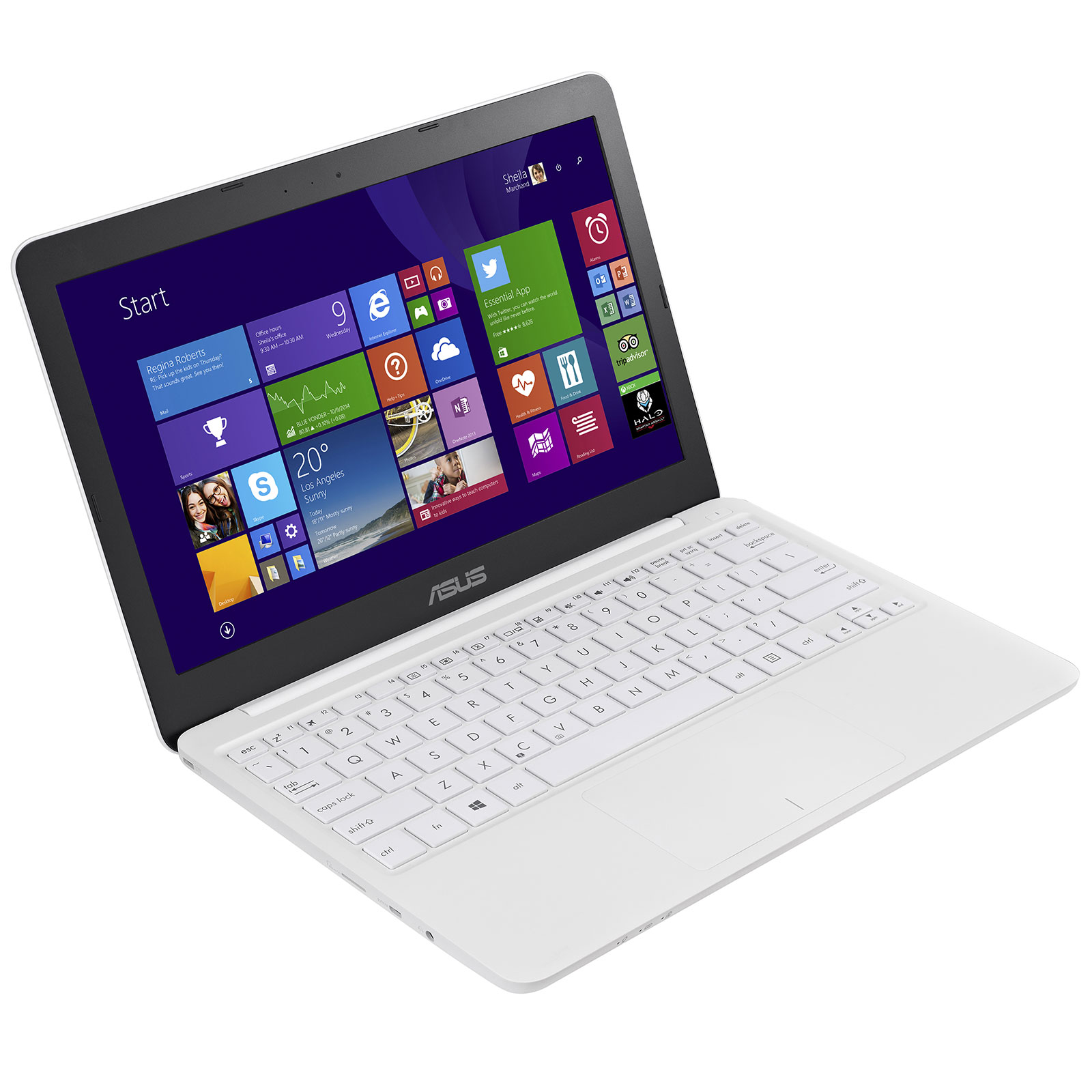 asus eeebook x205ta bing fd005bs blanc pc portable asus sur. Black Bedroom Furniture Sets. Home Design Ideas