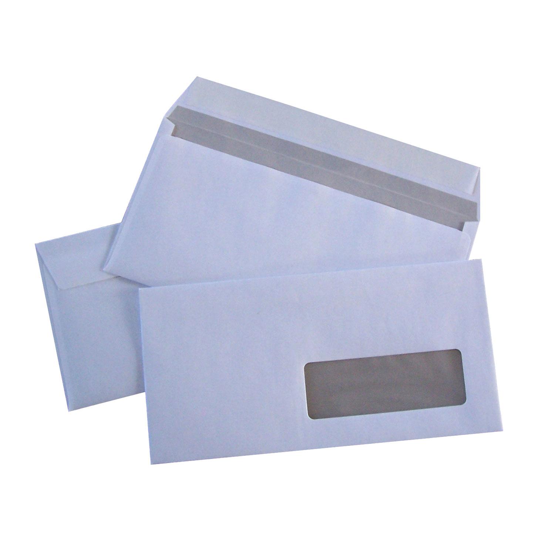 500 enveloppes dl auto adh sives 80g fen tre 35x100 for Enveloppe fenetre word