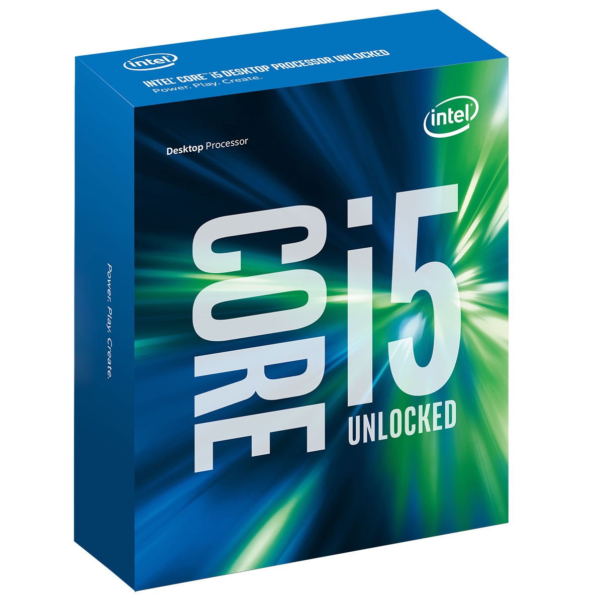 Processeur Intel Core i5-6600K (3.5 GHz) Processeur Quad Core Socket 1151 Cache L3 6 Mo Intel HD Graphics 530 0.014 micron (version boîte sans ventilateur - garantie Intel 3 ans)