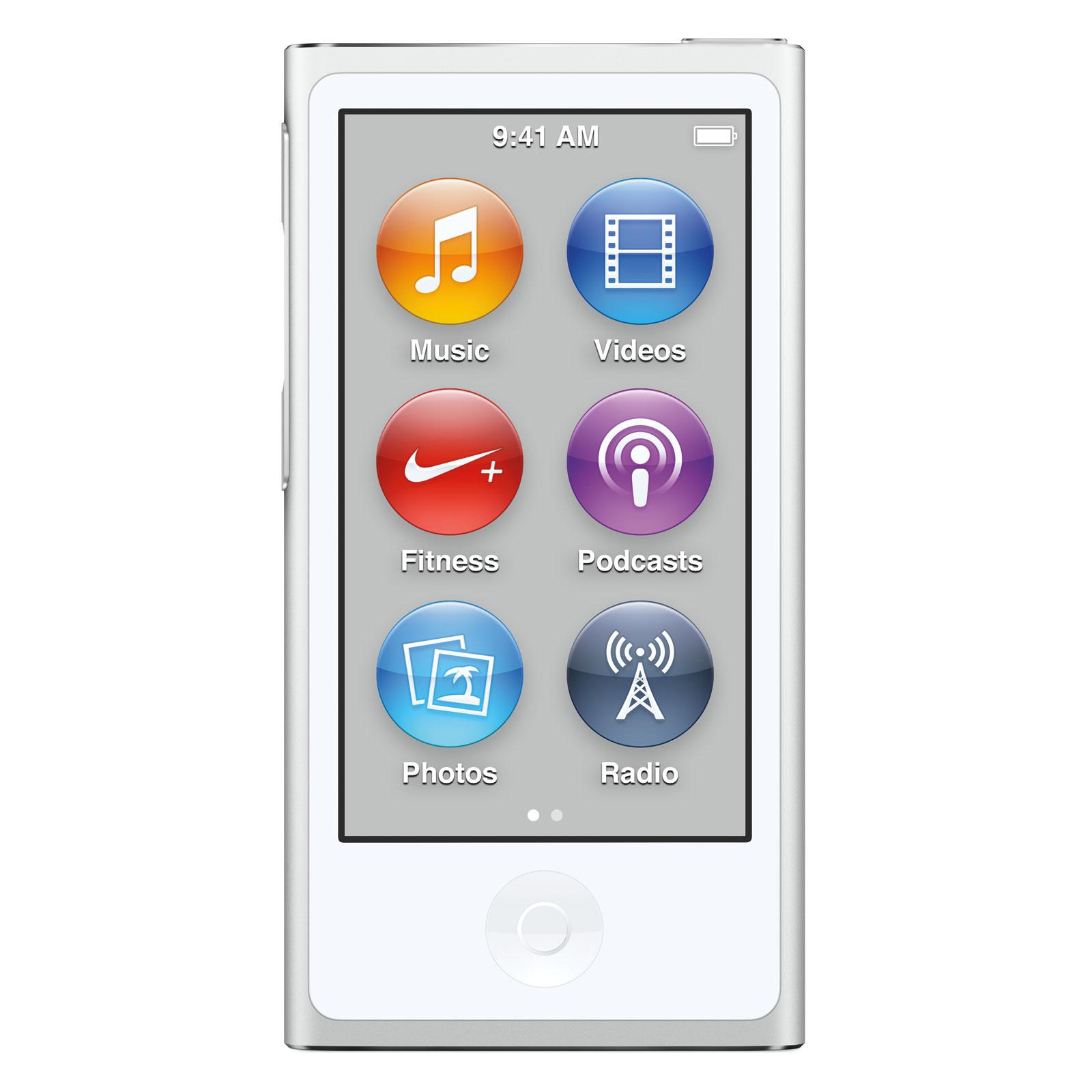 apple ipod nano 16 go argent 2015 lecteur mp3 ipod apple sur. Black Bedroom Furniture Sets. Home Design Ideas