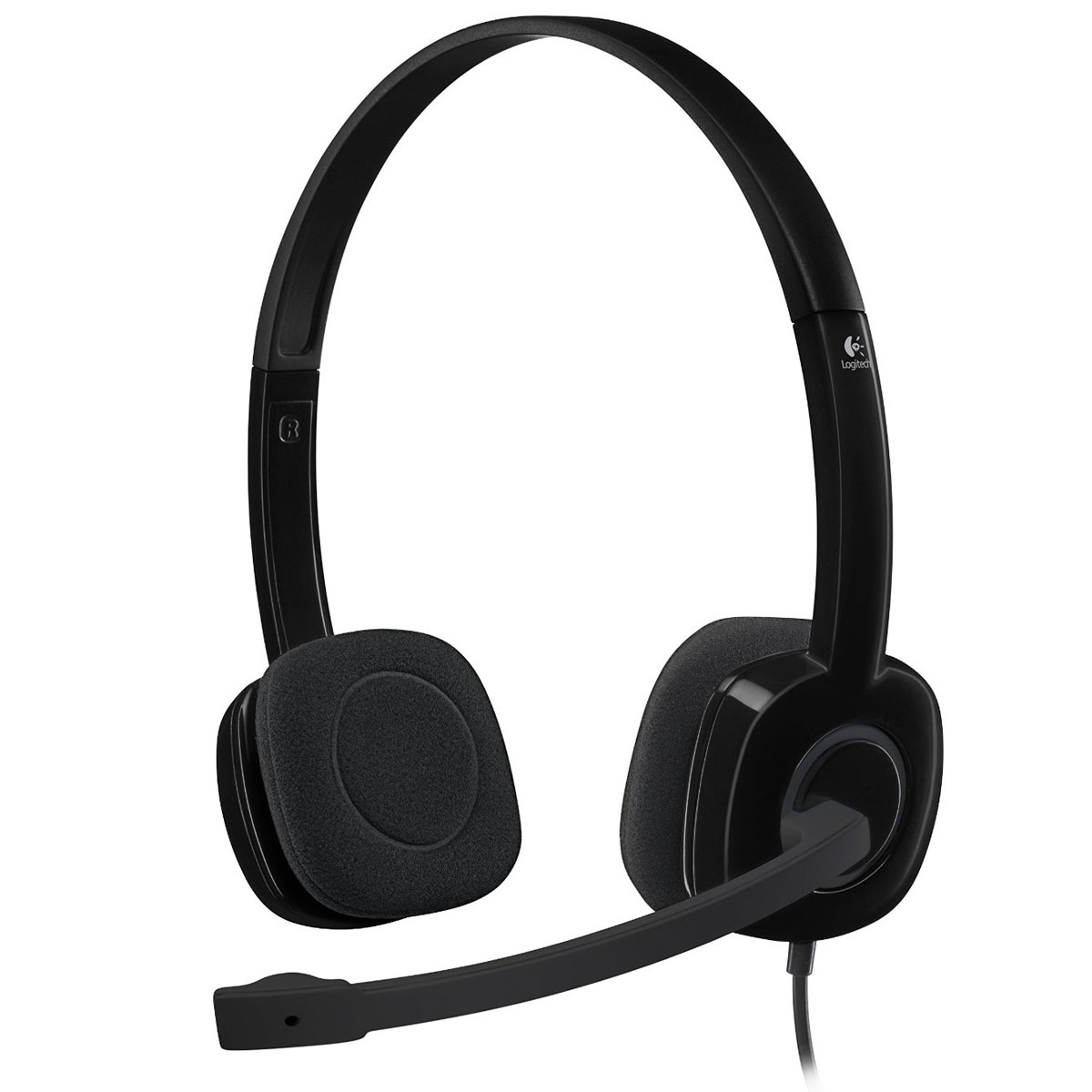 logitech stereo headset h151 micro casque logitech sur. Black Bedroom Furniture Sets. Home Design Ideas