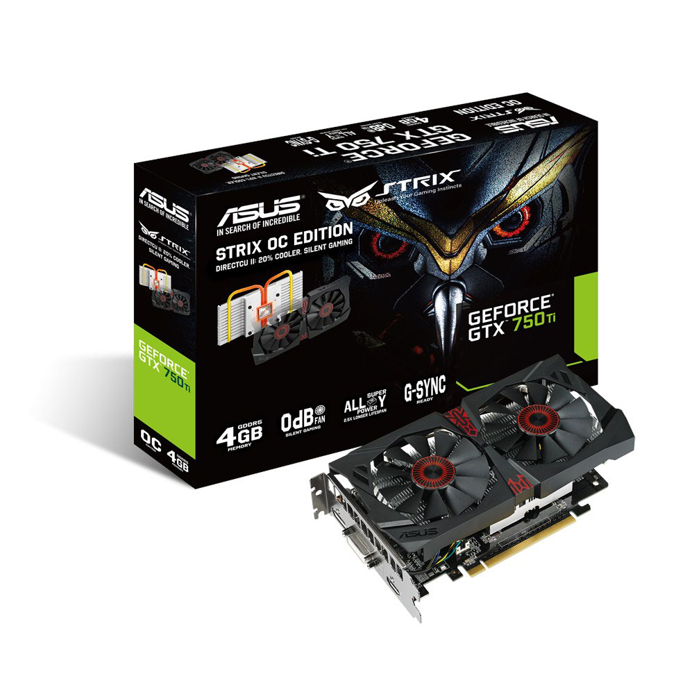 asus strix gtx750ti dc2oc 4gd5 geforce gtx 750 ti 4 go carte graphique asus sur. Black Bedroom Furniture Sets. Home Design Ideas
