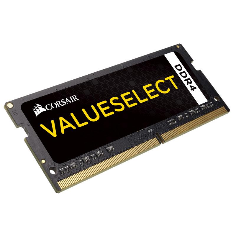 Mémoire PC Corsair Value Select SO-DIMM DDR4 8 Go 2133 MHz CL15 RAM DDR4 PC4-17000 - CMSO8GX4M1A2133C15 (garantie 10 ans par Corsair)