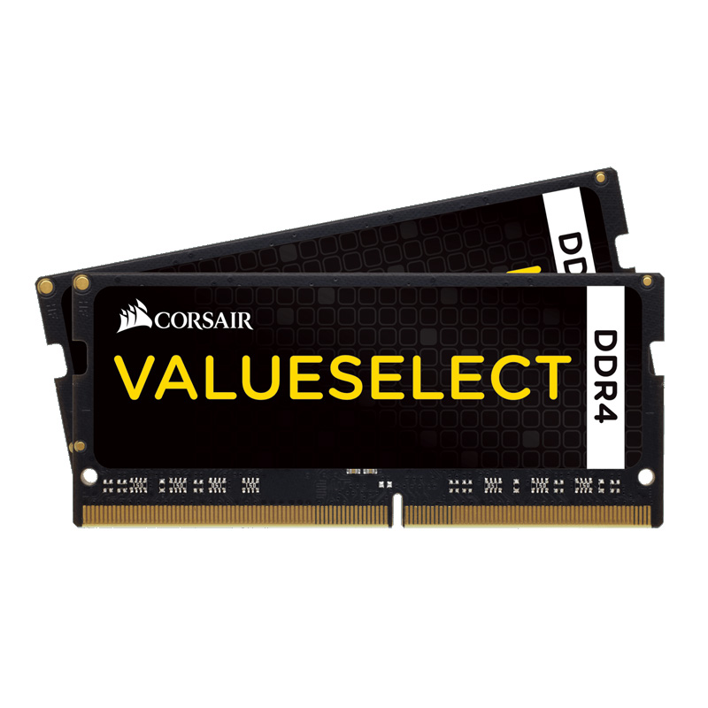 Mémoire PC Corsair Value Select SO-DIMM DDR4 32 Go (2 x 16 Go) 2400 MHz CL16 Kit Dual Channel RAM DDR4 PC4-19200 - CMSX32GX4M2A2400C16 (garantie 10 ans par Corsair)
