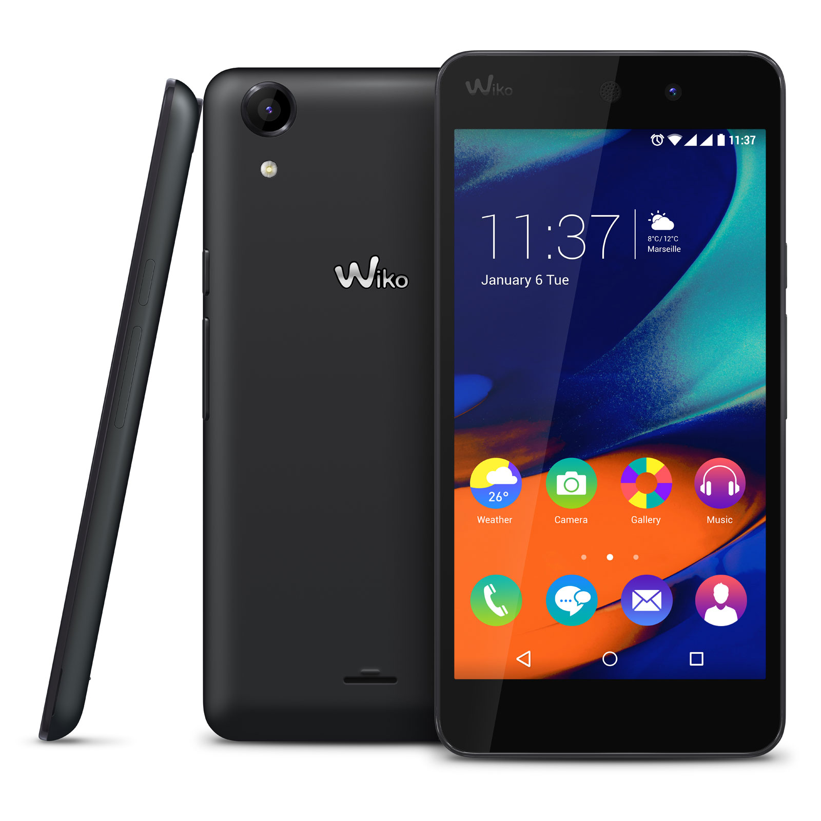 wiko rainbow up 4g noir mobile smartphone wiko sur. Black Bedroom Furniture Sets. Home Design Ideas