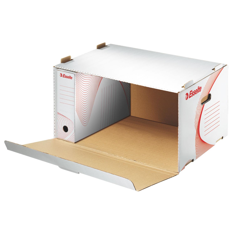 esselte conteneur archives avec ouverture frontale blanc bo te archives esselte sur. Black Bedroom Furniture Sets. Home Design Ideas
