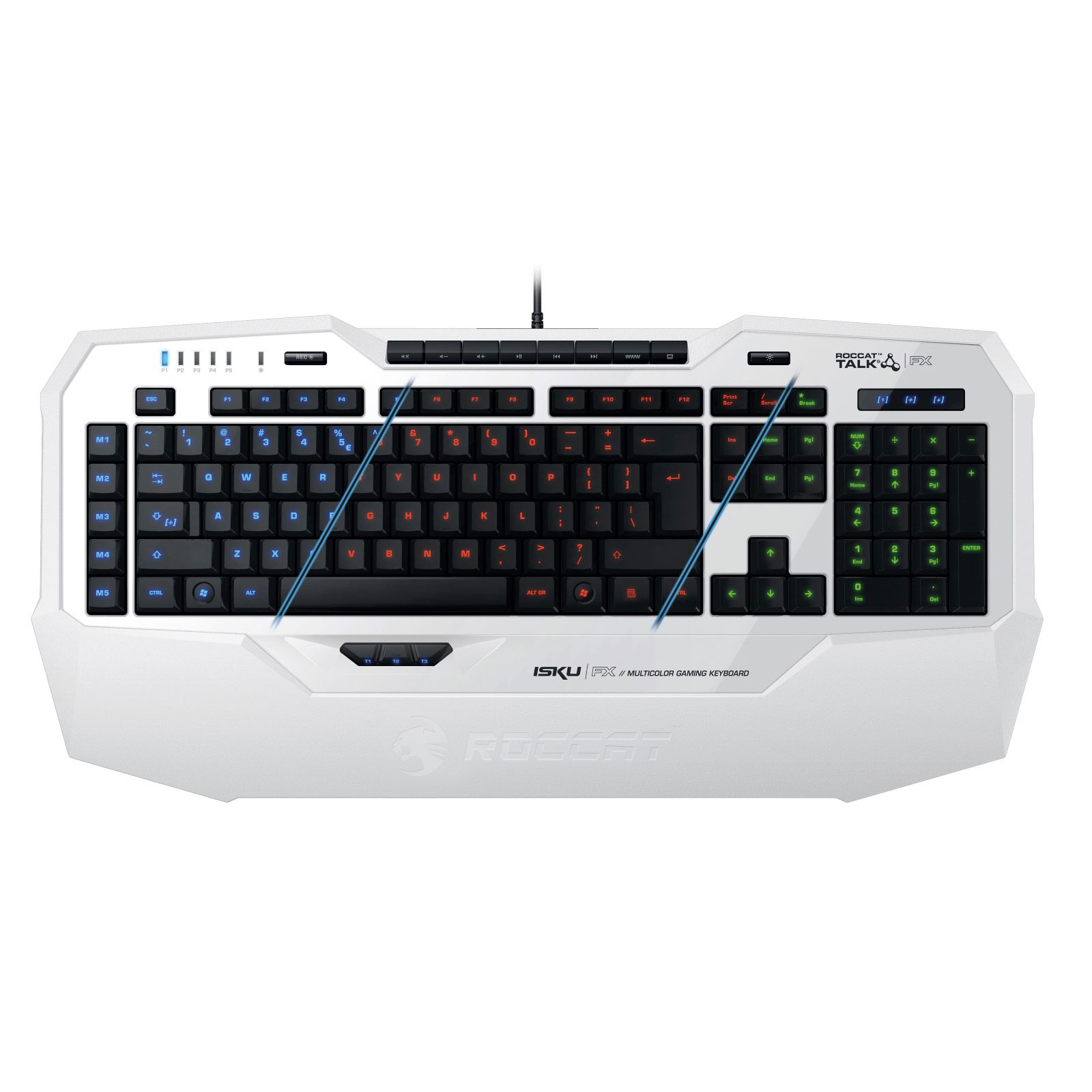 roccat isku fx blanc clavier pc roccat sur. Black Bedroom Furniture Sets. Home Design Ideas