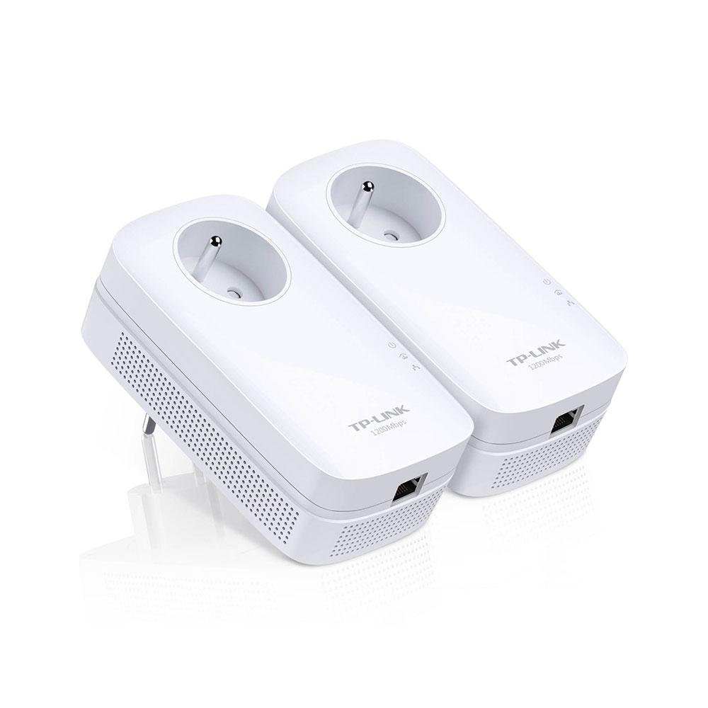 CPL TP-LINK TL-PA8015P KIT Pack de 2 adaptateurs CPL 1300 Mbps 1 port Gigabit LAN avec prise intégrée